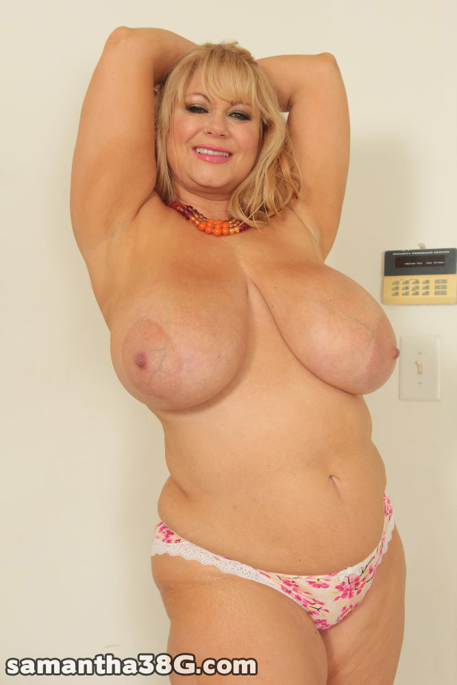 Blonde BBW with amazing tits gets her hairy pussy pounded from the ...