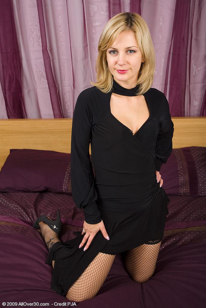 Stockings mature dress black
