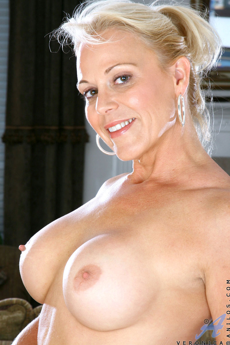Mature blonde fake tits dd
