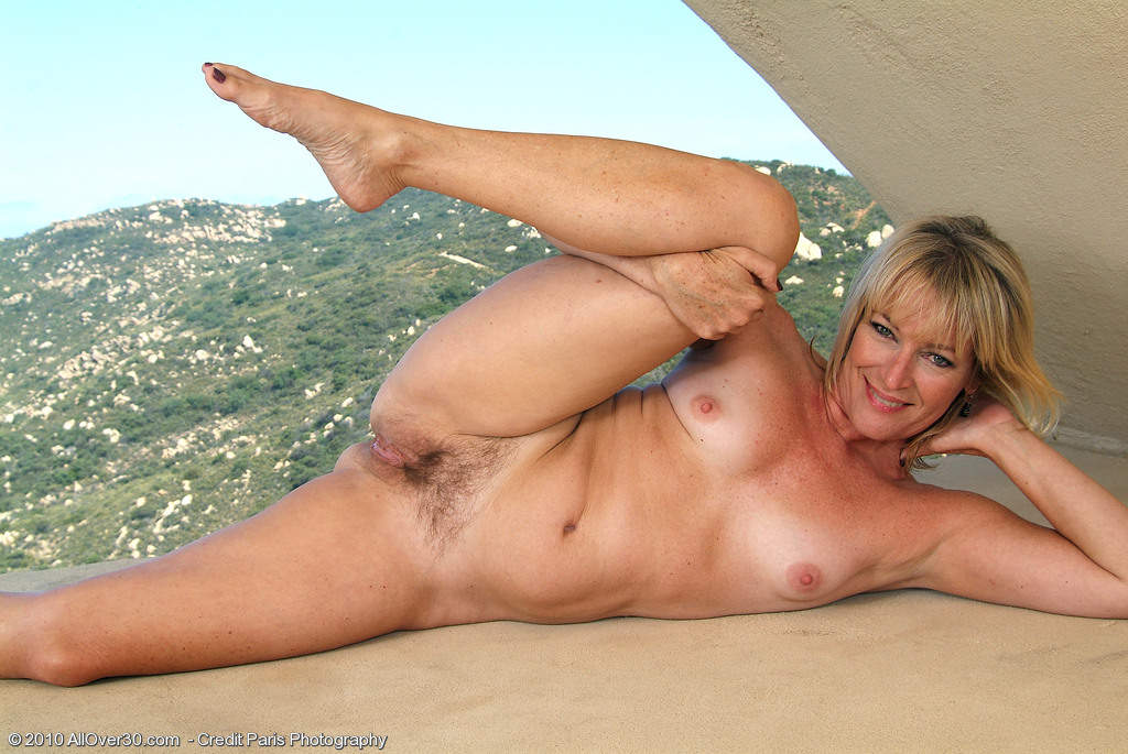 Mature Tan Blonde Outdoors