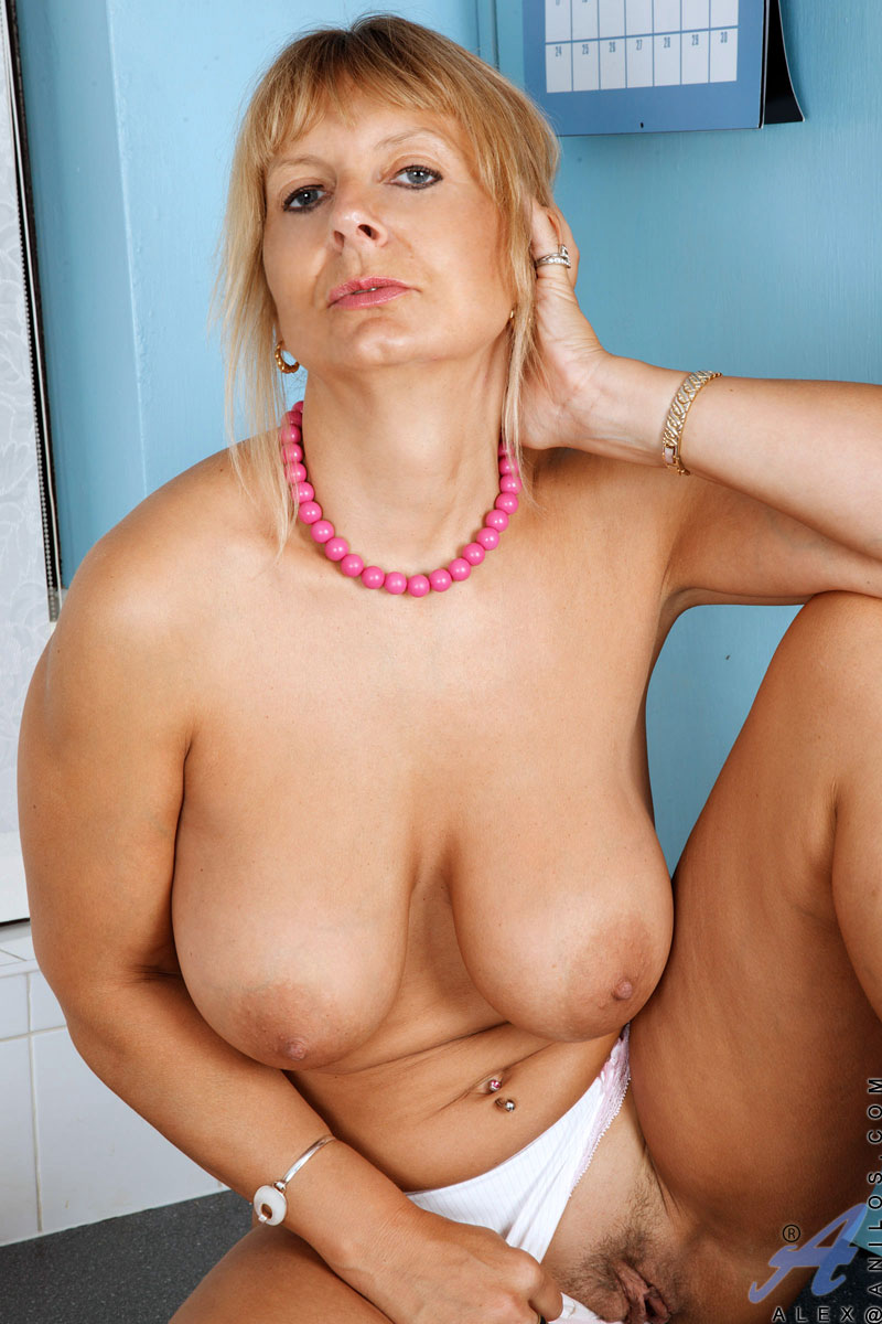 Mature blonde granny big tits