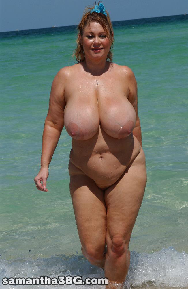tit granny nude beach nudist Big