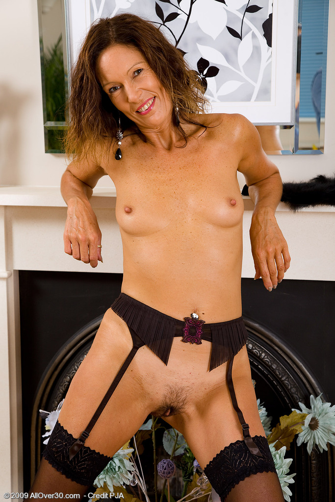 Skinny mature brunette wife consider, that