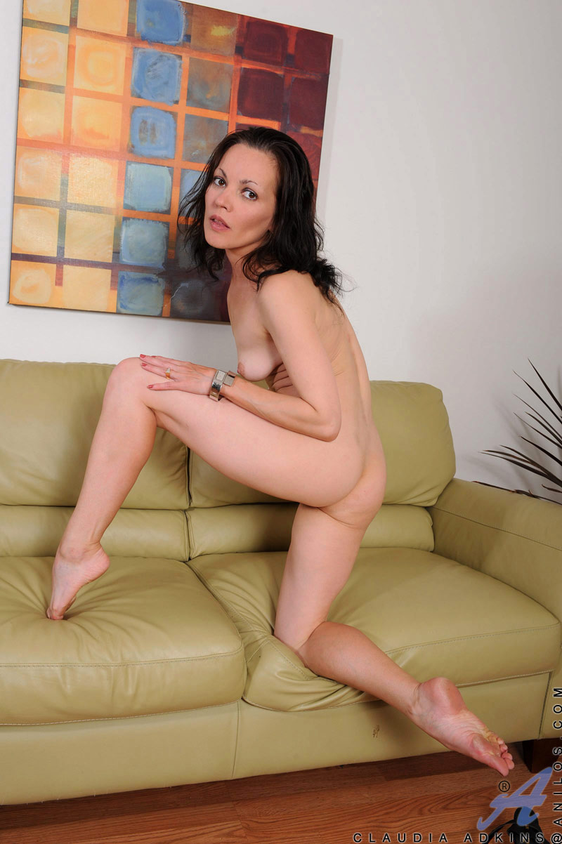 Mature brunette milf leather