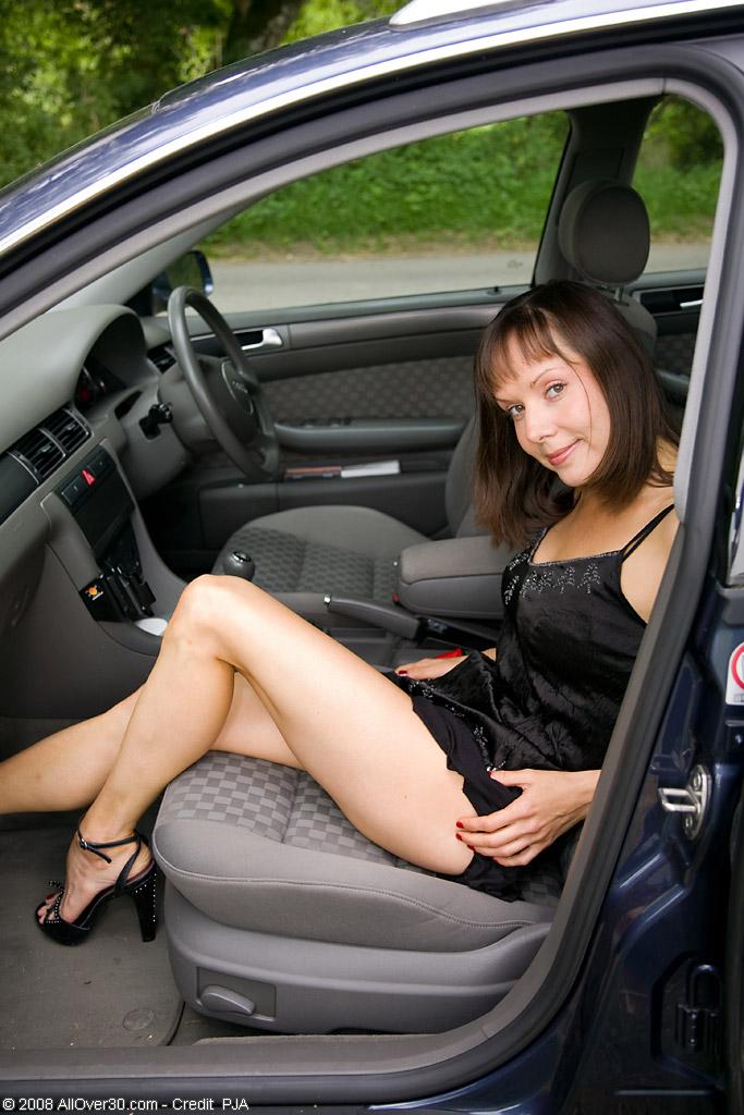 upskirt backseat in car