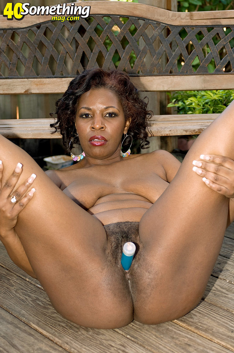 Outdoor black pussy