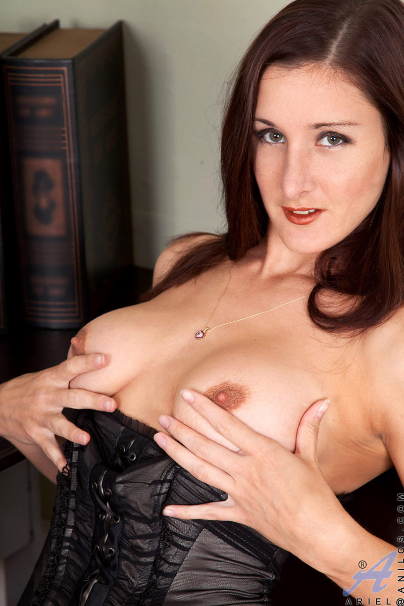 Mature mom lingerie model