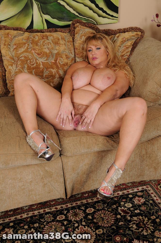 Samantha 38g Hairy Pussy