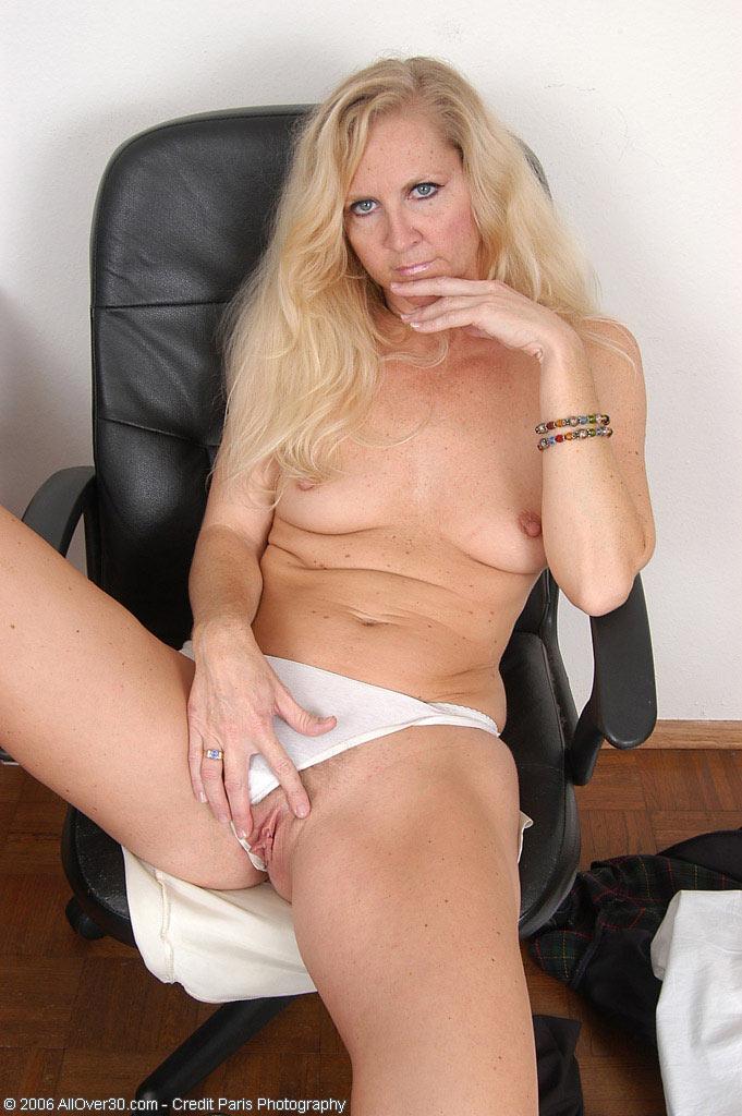 Mature Blonde Gets Massage