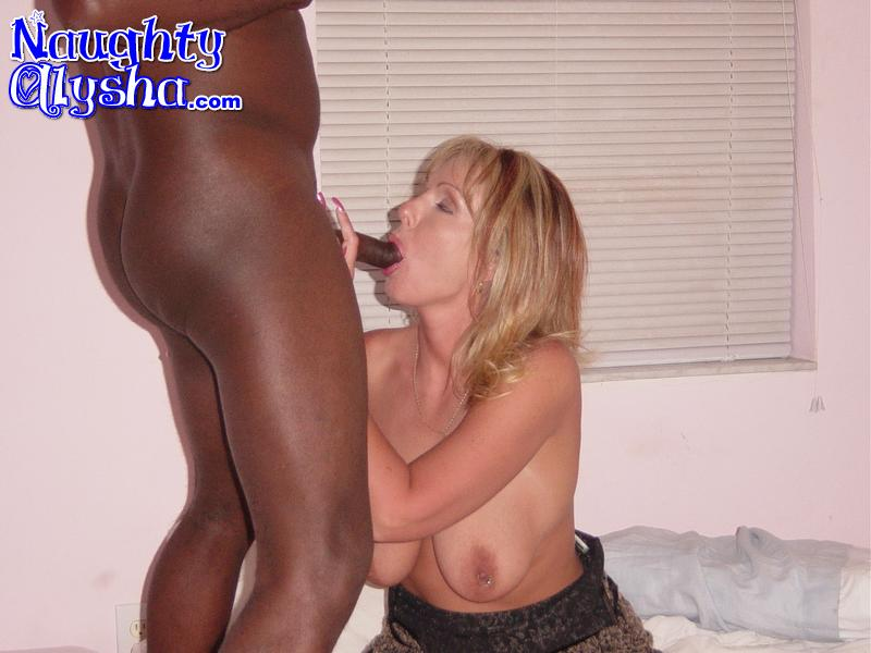 Mature blonde milf interracial