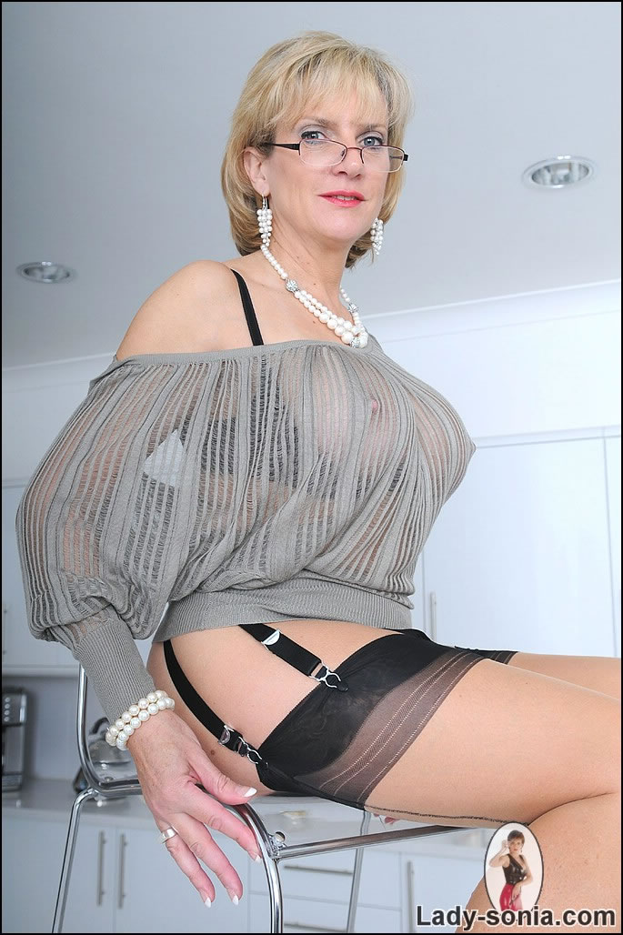 Thanks for Mature wearing see through lingerie