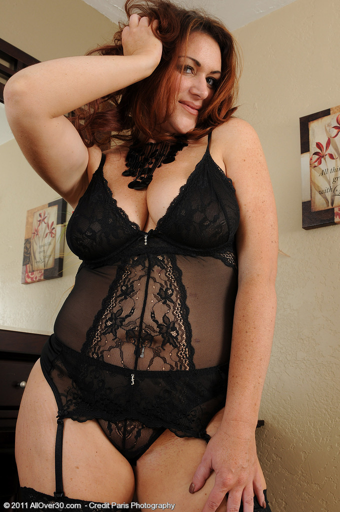 Busty blonde milf in black lace curious topic