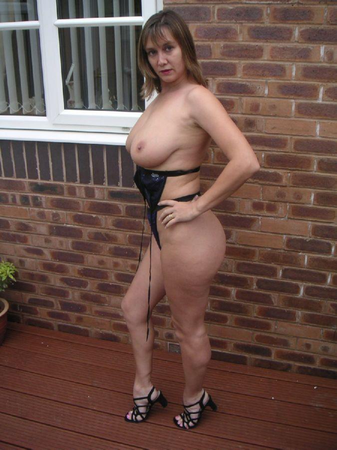 Busty mature in high heels assured
