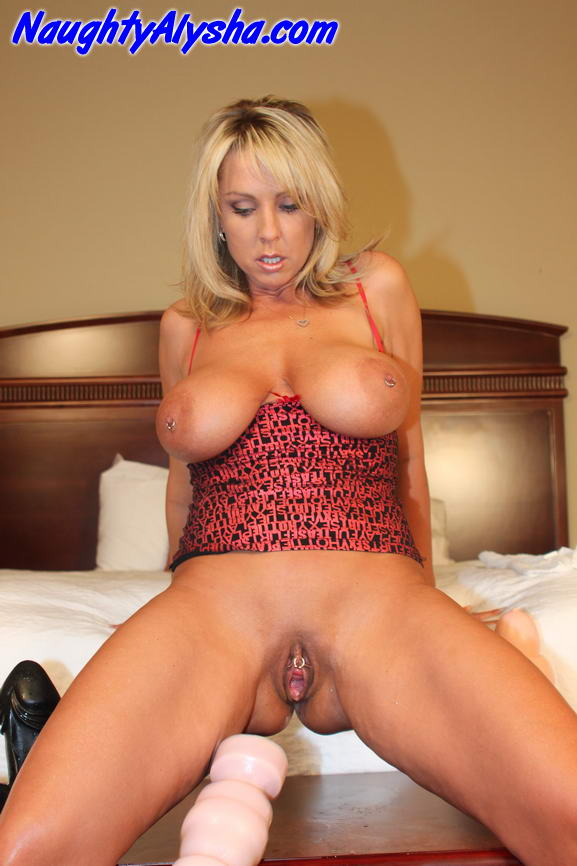 Busty Milf Riding Dildo Squirt