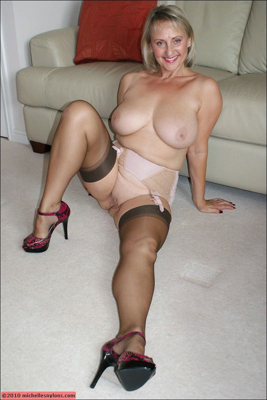 Nude milf in stockings pity, that